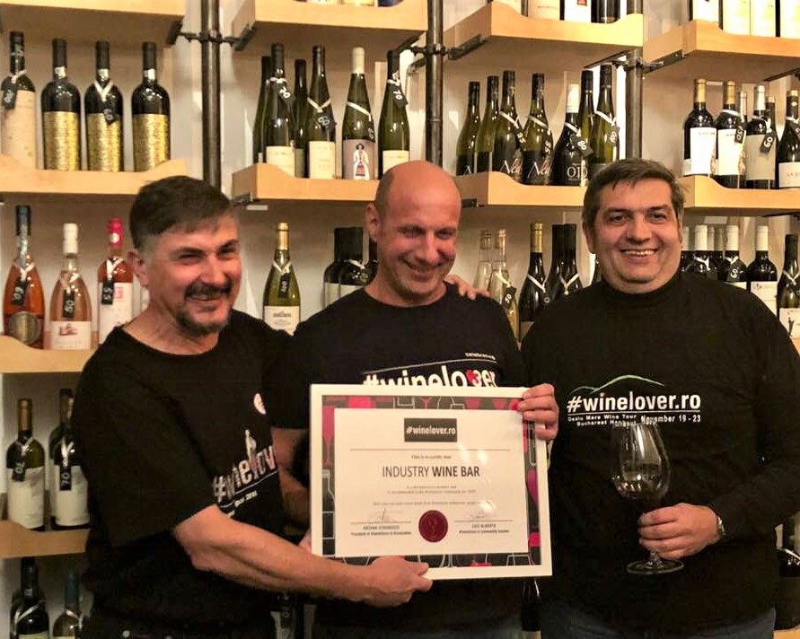 #winelover Romania at Industry Wine bar